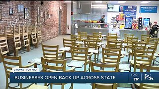 Businesses open back up across the state