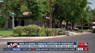 Bakersfield homeowner shoots man allegedly burglarizing his home - Video