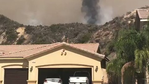Voluntary Evacuations Issued for Southern California's Holy Fire
