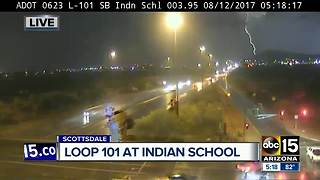 ADOT camera captures lightning strike in Scottsdale - Video