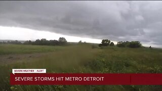 Severe storms roll through metro Detroit on Wednesday evening