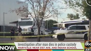 Police are investigating after a man died in their custody