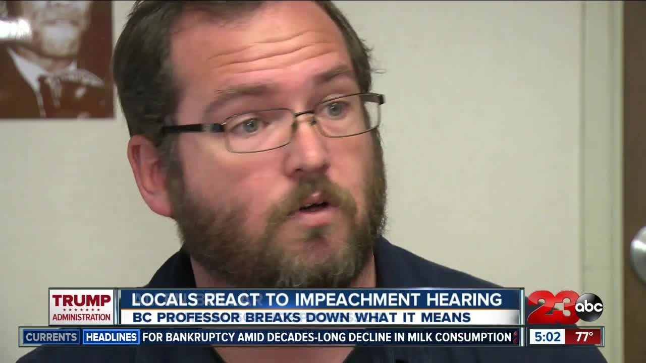 People react to impeachment hearing, local expert weighs in on process