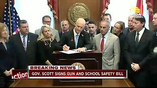 Governor Scott signs Marjory Stoneman Douglas High School Public Safety Act into law - Video