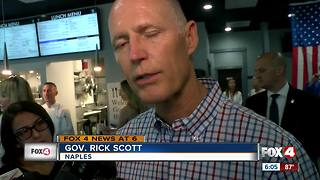 Governor Rick Scott discusses Lake Okeechobee discharges - Video