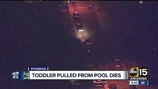 2-year-old dies after being pulled from west Phoenix pool