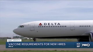 Delta requiring new hires to be vaccinated