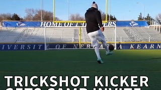 Trickshot Kicker Gets Camp Invite From The Patriots - Video