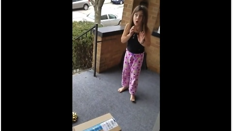 Emotional Girl Jumps For Joy Over New Puppy Surprise