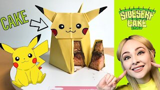 How to make an origami Pikachu cake
