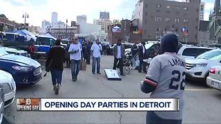 Detroit Tigers Opening Day parties in Detroit - Video