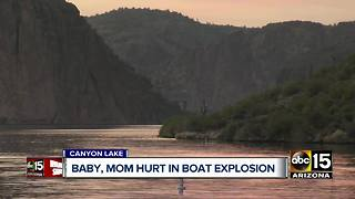 2 injured in boat explosion at Canyon Lake - Video