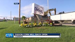 Didion Corn Mill reopens - Video