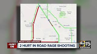Two shot in possible road rage incident near Casa Grande - Video