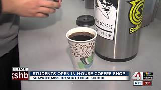 Shawnee Mission South students learn entrepreneurship through in-school coffee shop - Video