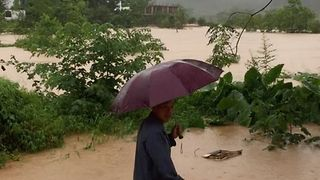 Yangshou Flooded As Torrential Rains Pound Southern China - Video