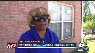 92-year-old woman nearly misses shooting - Video