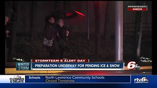 City, road crews preparing for freezing rain and snow on Friday - Video