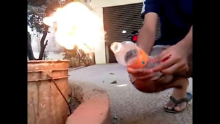 Gasoline Combustion in SLOW MOTION  - Video