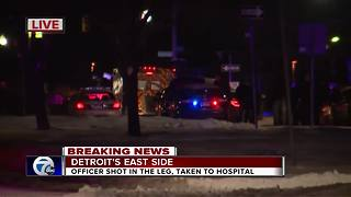 DPD officer shot in the leg during barricaded situation - Video
