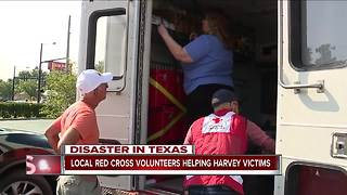 Two local Red Cross volunteers head south to help thousands forced from their flooded homes - Video