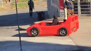 """Man spotted driving bizarre """"sports car"""""""