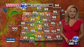 Mid to upper 90s to start the week - Video