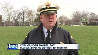 Unified park clean up with Cleveland police