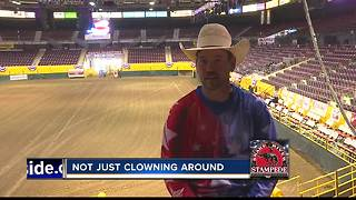 World traveling rodeo clown makes stop at the Snake River Stampede