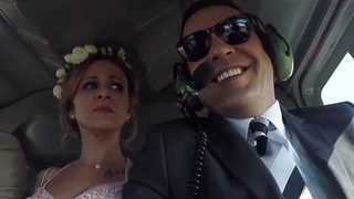 Couple Say 'I Do' in Helicopter Wedding - Video