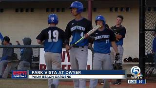 Park Vista takes on Dwyer in high school baseball - Video