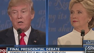 Final presidential debate in Las Vegas generates millions in publicity - Video
