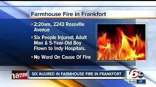 6 people, including a 5-year-old boy, injured in Clinton County fire - Video
