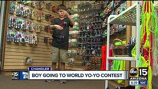 Young yo-yoer to compete among best in the world - Video