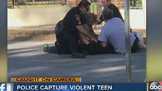 Police capture violent teen - Video
