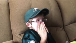 Pennsylvania Boy With Rare Genetic Disorder Gets Special Call From Philadelphia Eagles - Video