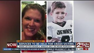 Funeral services begin for deadly crash victims near Purcell - Video