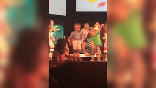 Little Boy Refuses To Take Part In School Play - Video