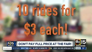 SAVE! The Arizona State Fair has deals every day! - Video