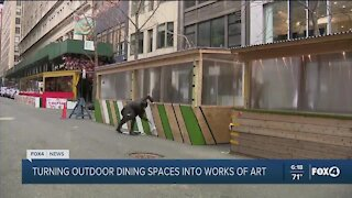 Project turns outdoor spaces into works of art