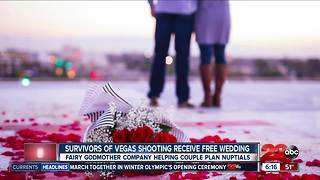 Local couple receives free wedding after surviving shooting at Route 91 Harvest Festival - Video