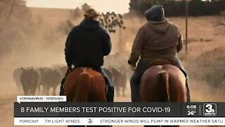 8 family members test positive for COVID-19