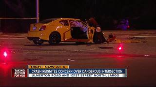 Crash reignites concern over dangerous intersection - Video