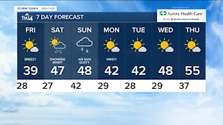 Cold front moves in Thursday night, chance for rain/snow mix overnight