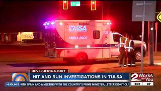 Man sent to hospital in east Tulsa hit and run - Video