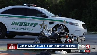 Motorcyclist killed in North Fort Myers crash