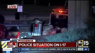 DPS searching for one after pursuit ends in crash on I-17 - Video
