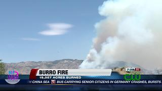 Burro Fire update - Video