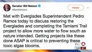 Sen. Bill Nelson addressing the toxic algae blooms in South Florida - Video