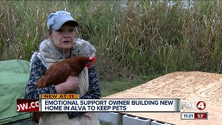 Emotional support owner building new home in Alva to keep pets